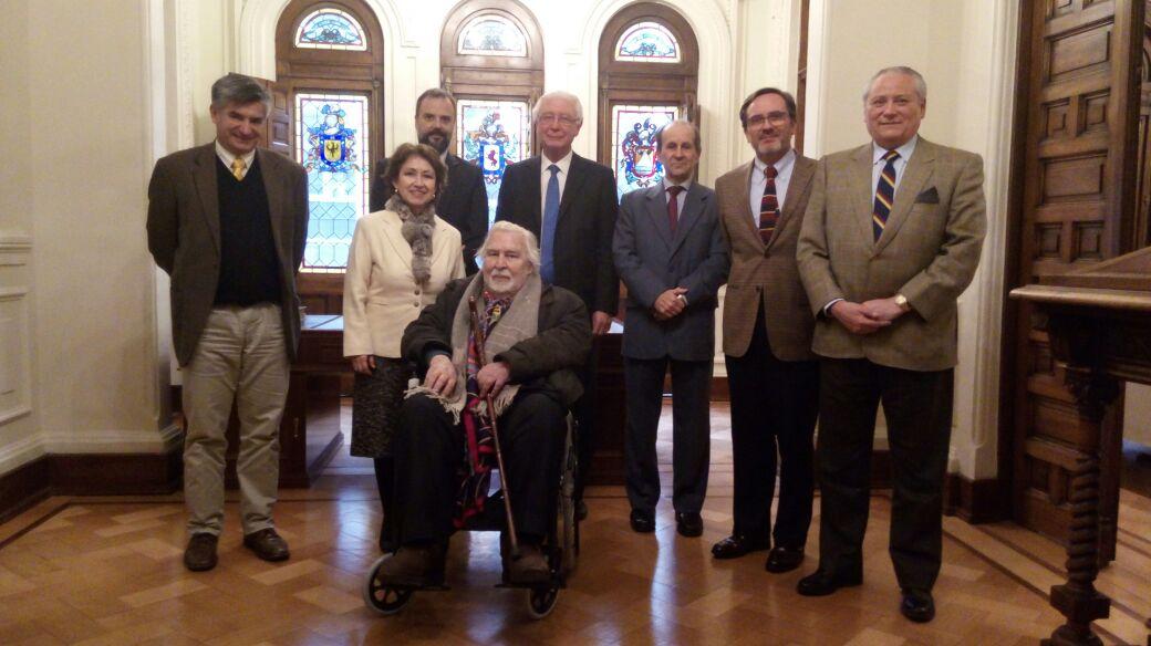Ex Presidentes Raul Bertelsen R.  y Juan Colombo C. se reúnen con el Tribunal