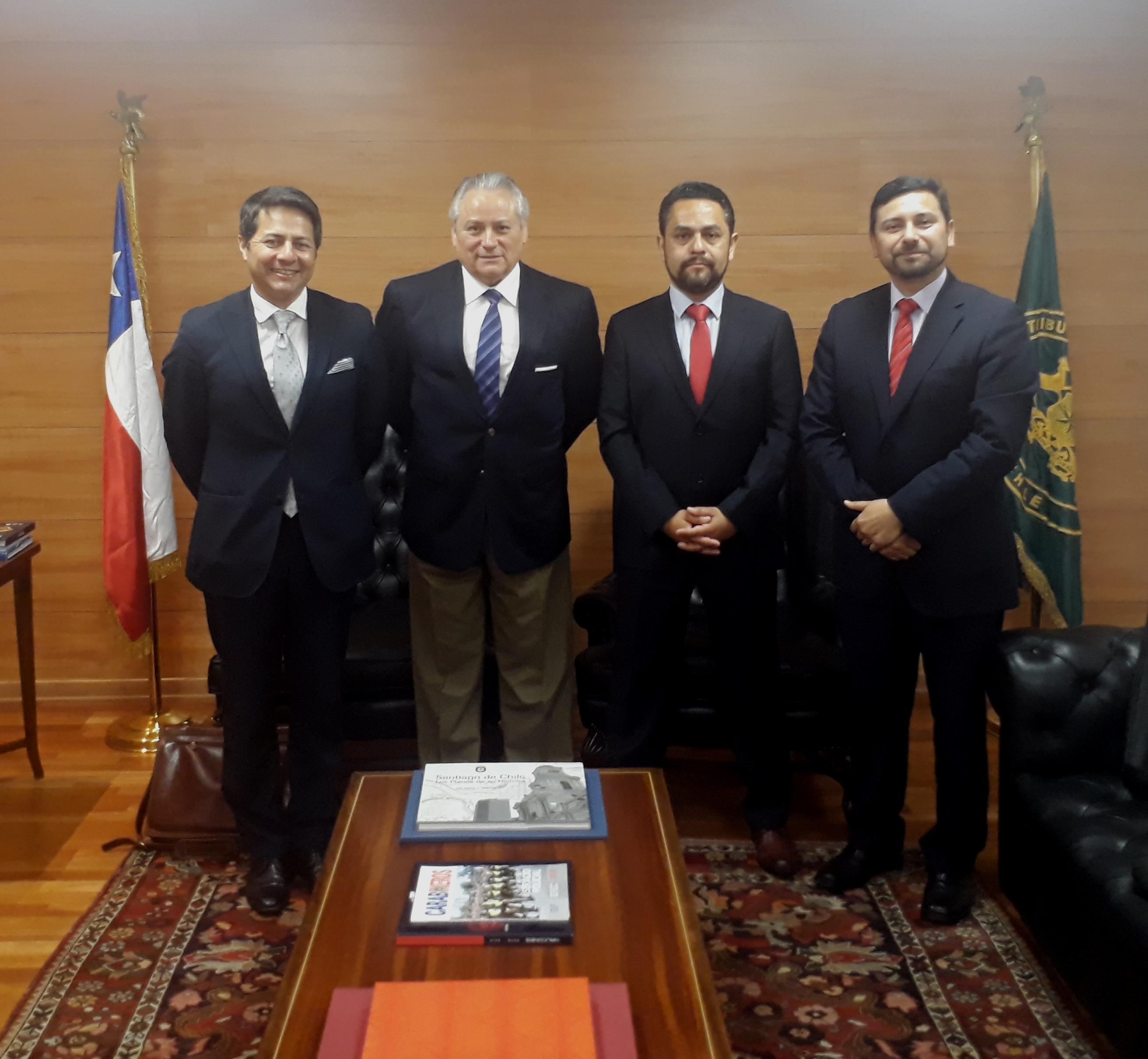 Presidente del Tribunal Constitucional recibió a Presidente y Ministros del Primer Tribunal Ambiental