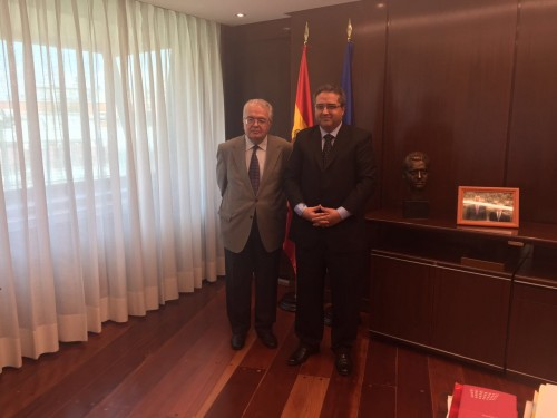 Presidente visita Tribunal Constitucional Español