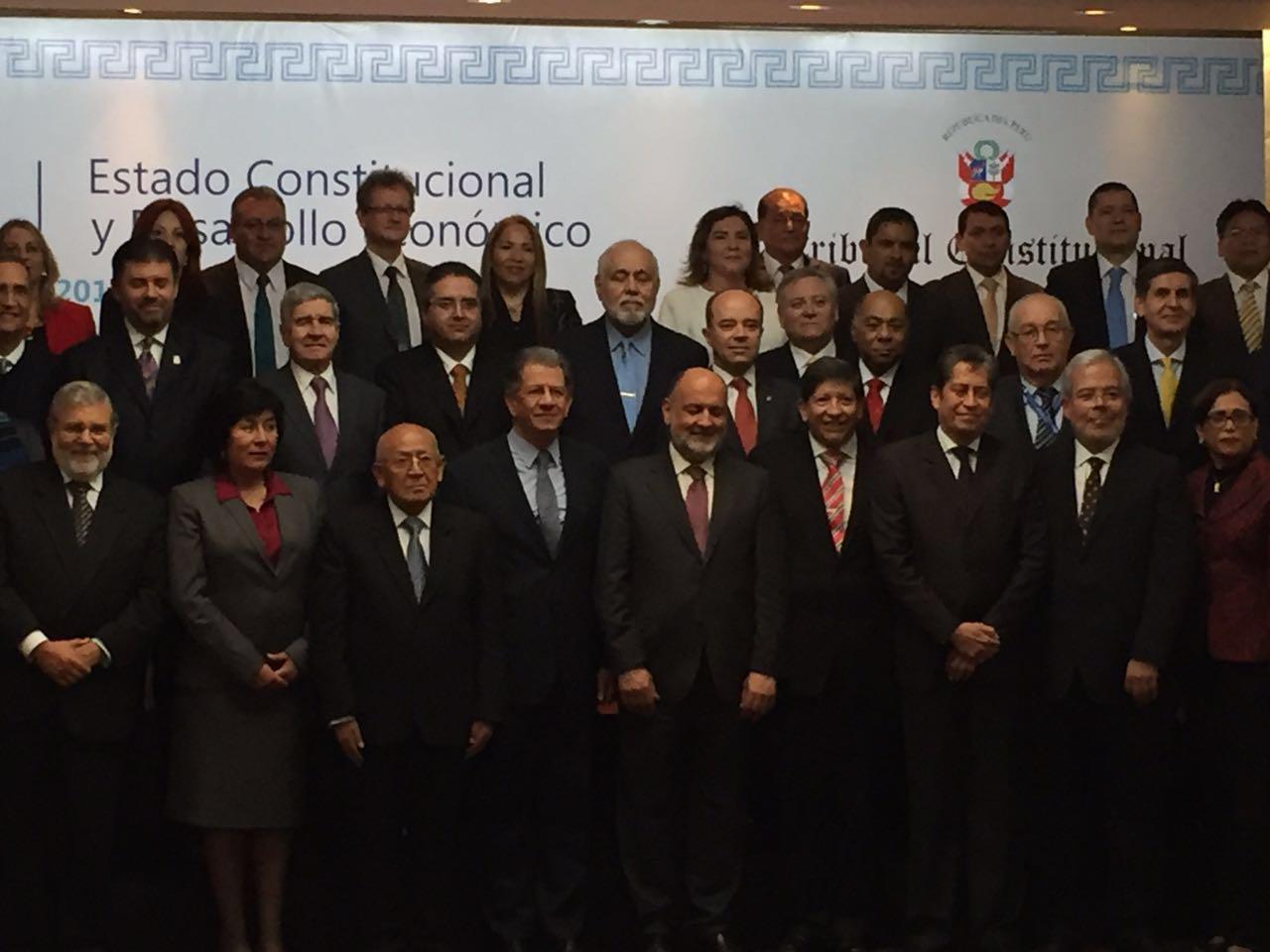 Presidente y Ministro participan en la XI Conferencia Iberoamericana de Justicia Constitucional