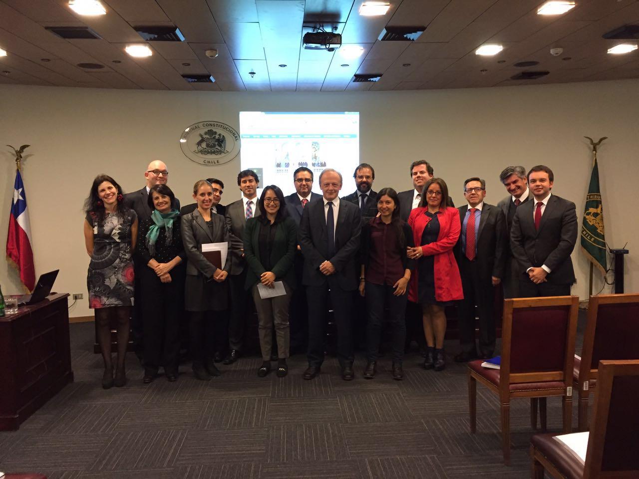 Tribunal recibe al catedrático de Filosofía del Derecho de la Universidad de León, Sr. Juan Antonio García Amado