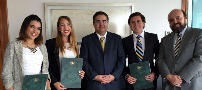 Alumnos que realizaron pasantía durante el mes de enero de 2016 en el Tribunal, culminan proceso y reciben sus certificados