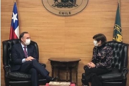 Presidente del Consejo de Defensa del Estado realiza visita protocolar a  Presidenta del Tribunal Constitucional