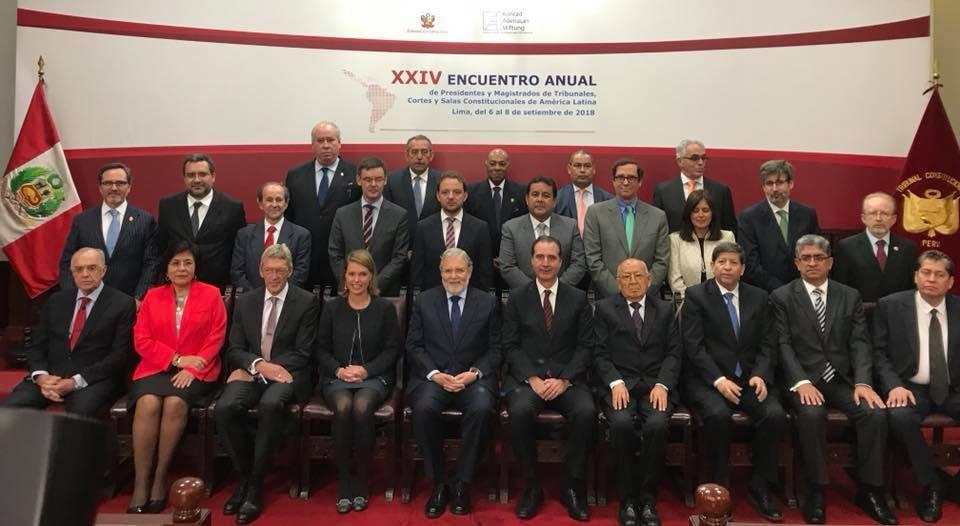 Ministros Domingo Hernández y José Ignacio Vásquez participaron en el XXIV Encuentro Anual de Presidentes y Magistrados de Tribunales Cortes y Salas Constitucionales de América Latina, organizado por la Fundación Konrad Adenauer