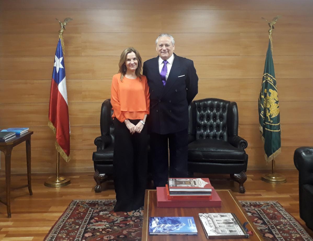 La Ministra de las Culturas, las Artes y el Patrimonio visitó el Tribunal Constitucional