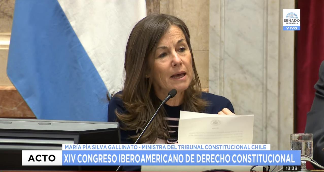 Ministra María Pía Silva expone en sesión especial del Honorable Senado de la nación Argentina