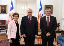 S.E. el Presidente de la República recibe saludo protocolar de la Presidenta del Tribunal Constitucional