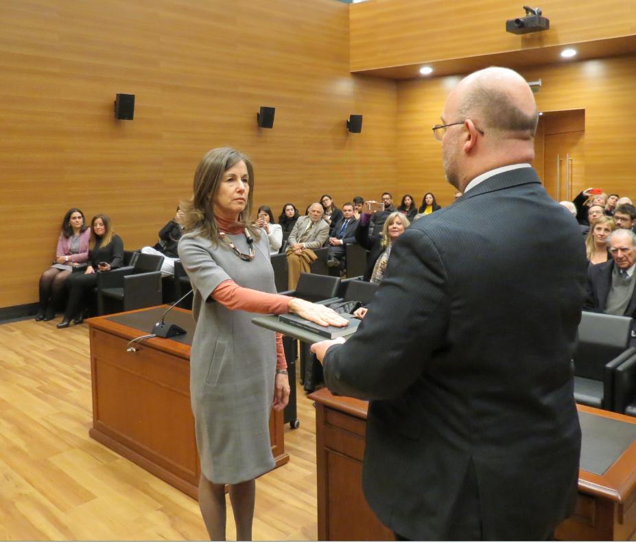 Ceremonia de juramento de la señora María Pía Silva como Ministra del Tribunal Constitucional