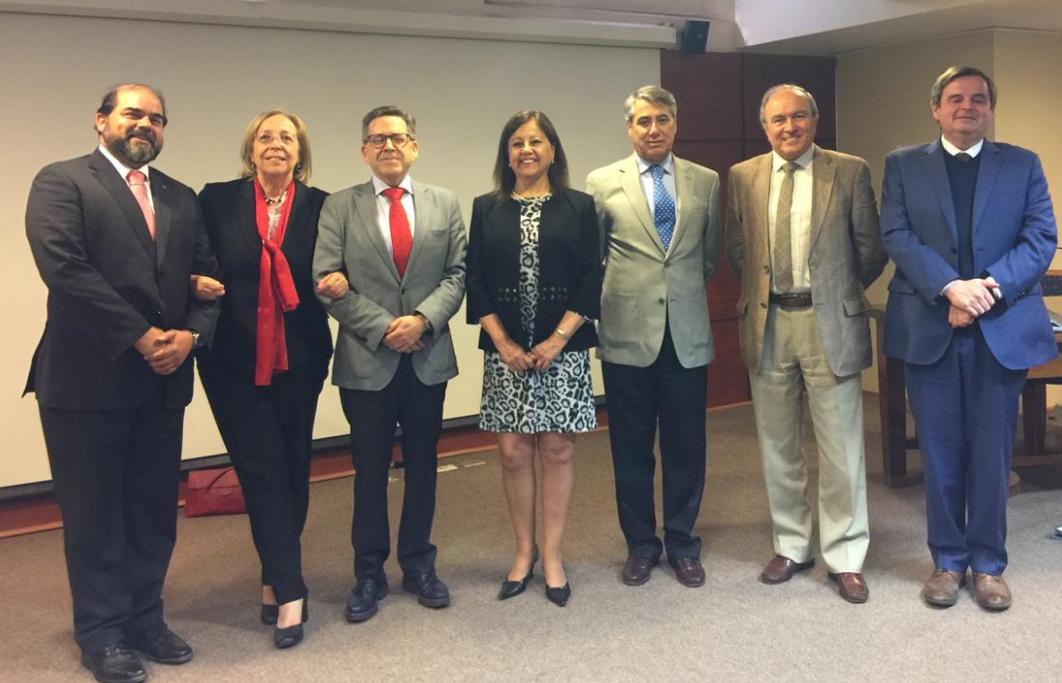 Ministros Sres. Cristián Letelier Aguilar y Ministro Sr. Nelson Pozo Silva, participan en